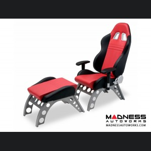 Race Car Style Footrest - Monza - Red
