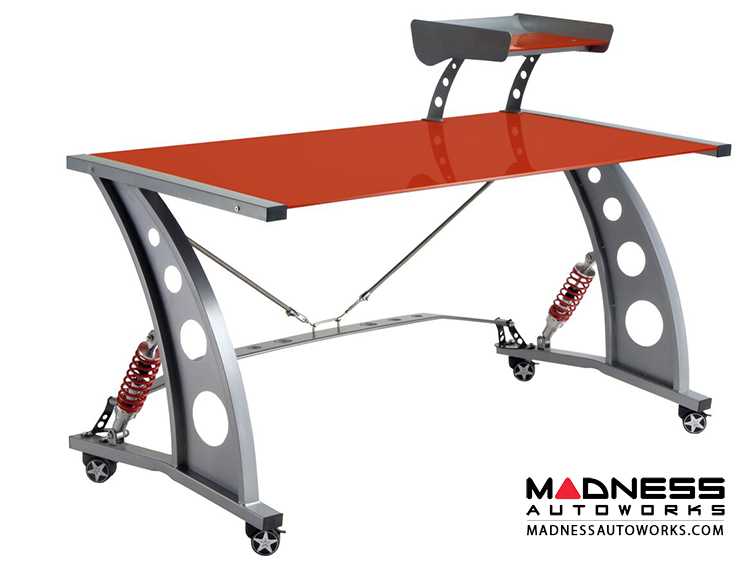 race car style desk targa red madness autoworks auto parts and accessories. Black Bedroom Furniture Sets. Home Design Ideas