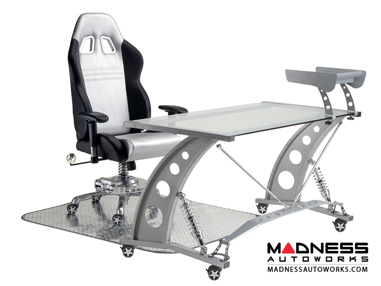Race Car Style Office Chair Monza Silver