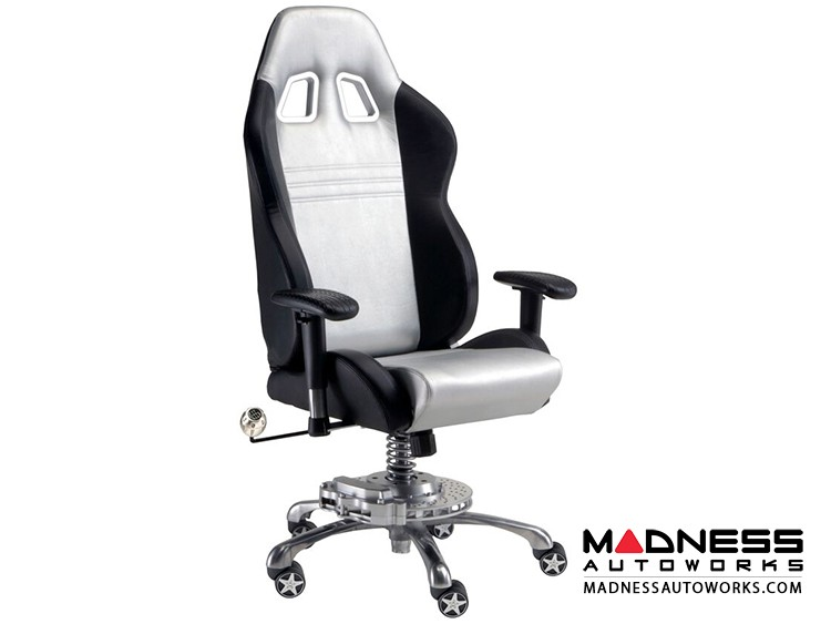 Race Car Style Office Chair - Monza - Silver