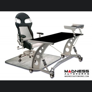 Race Car Style Office Chair - Targa - Silver