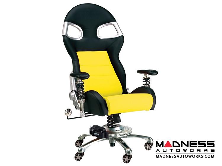 Race Car Style Office Chair - Targa - Yellow