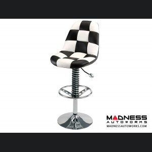 Race Car Style Bar Chair - Monza - White