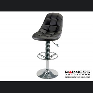 Race Car Style Bar Chair - Monza - Black