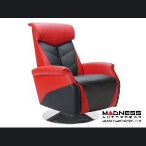 Race Car Style Recliner - Targa - Red w/ Black