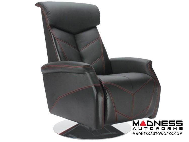 Race Car Style Recliner - Targa - Black w/ Carbon Fiber Style