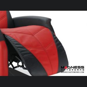 Race Car Style Recliner - Targa - Black w/ Red