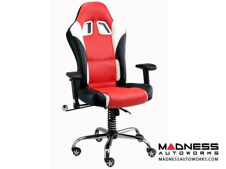 Race Car Style Office Chair - Sebring - Red