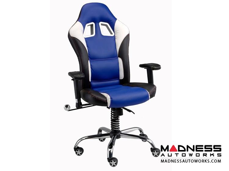 Race Car Style Office Chair - Sebring - Blue