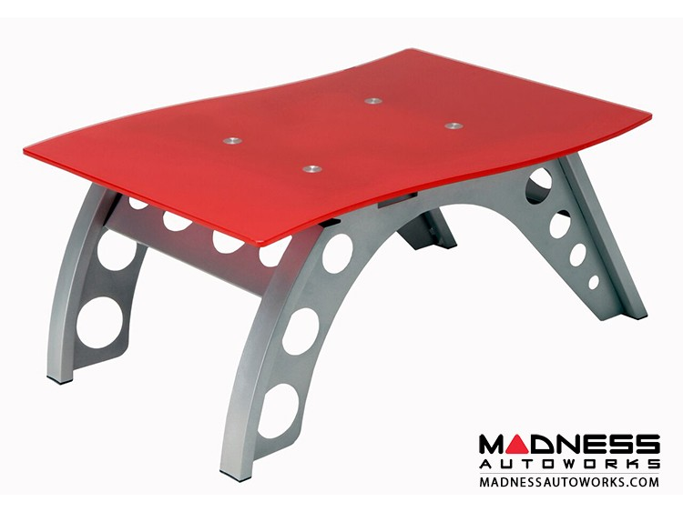 Race Car Style Side Table - Red