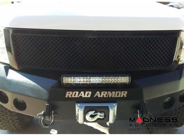GMC Sierra 1500 Stealth Front Winch Bumper - Smittybilt XRC - Raw Steel WARN M12000 - (2008-2013)