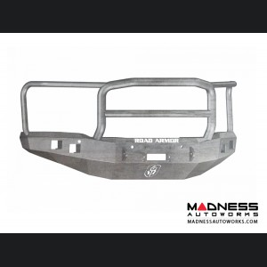 GMC Sierra 1500 Stealth Front Winch Bumper Lonestar Guard - Smittybilt XRC - Raw Steel WARN M12000 - (2014-2015)