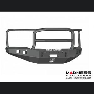 GMC Sierra 1500 Stealth Front Winch Bumper Lonestar Guard - Smittybilt XRC - Texture Black WARN M12000 - (2014-2015)