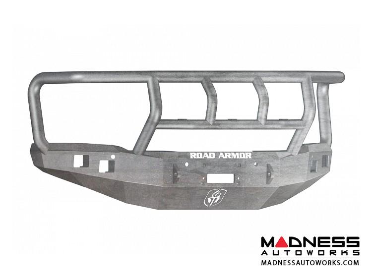 GMC Sierra 1500 Stealth Front Winch Bumper Titan II Guard - Smittybilt XRC - Raw Steel WARN M12000 - (2014-2015)