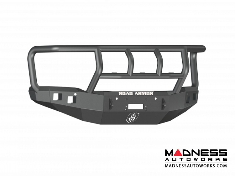 GMC Sierra 1500 Stealth Front Winch Bumper Titan II Guard - Smittybilt XRC - Texture Black WARN M12000 - (2014-2015)