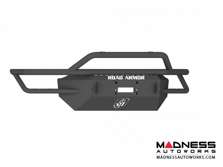 GMC Sierra 1500 Sahara Front Winch Bumper Pre-Runner Guard - Texture Black WARN 16.5ti