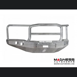 GMC Sierra 1500 Stealth Front Winch Bumper Lonestar Guard - Smittybilt XRC - Raw Steel WARN M12000