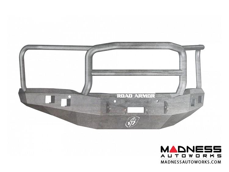 GMC Sierra 1500 Stealth Front Winch Bumper Lonestar Guard - Smittybilt XRC - Raw Steel WARN M12000