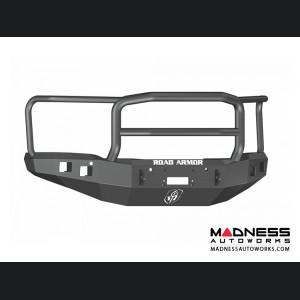 GMC Sierra 1500 Stealth Front Winch Bumper Lonestar Guard - Smittybilt XRC - Texture Black WARN M12000
