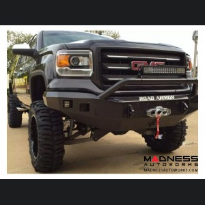 GMC Sierra 1500 Stealth Front Winch Bumper Pre-Runner Guard - Smittybilt XRC - Raw Steel WARN M12000