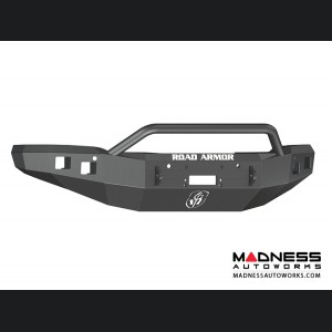 GMC Sierra 1500 Stealth Front Winch Bumper Pre-Runner Guard - Smittybilt XRC - Texture Black WARN M12000