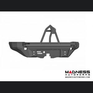 Hummer H2 Dakar Rear Non-Winch Bumper With Tire Carrier - Texture Black