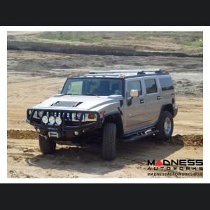 Hummer H2 Dakar Front Winch Bumper - Texture Black WARN M8000, 9.5xp