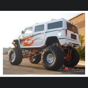 Hummer H2 Dakar Rear Non-Winch Bumper - Raw Steel