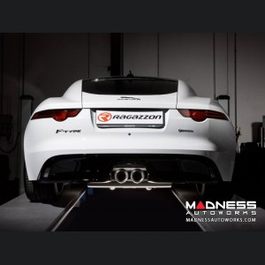 Jaguar F Type P300 Performance Exhaust by Ragazzon - Evo Line - Dual Tip w/ Valved Rear Section
