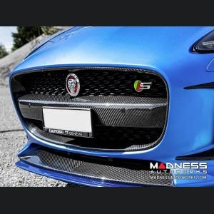 Jaguar F-Type Radiator Grille Center - Carbon Fiber