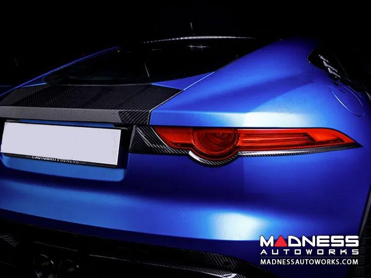 Jaguar F-Type Rear Taillight Frames - Carbon Fiber