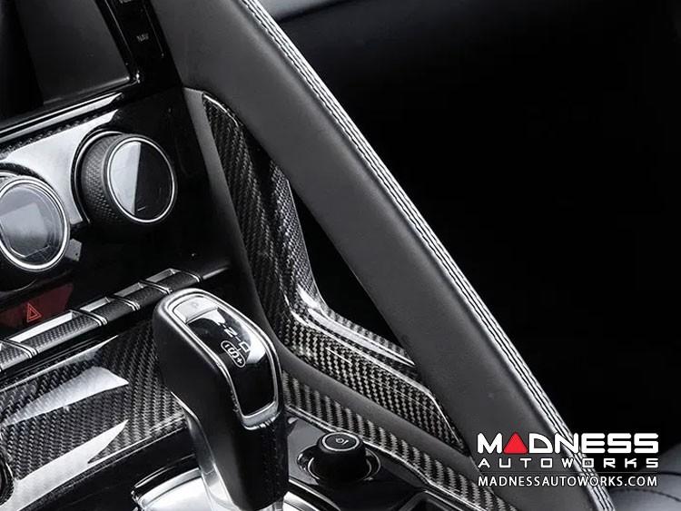Jaguar F-Type Carbon Fiber Center Console Side Trim - Carbon Fiber