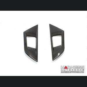 Jaguar F-Type Interior Door Handle Covers - Carbon Fiber