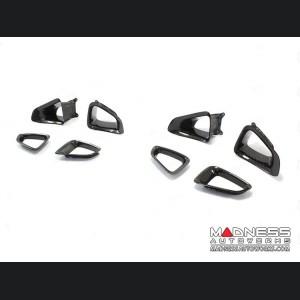 Jaguar F-Type Headrest Insert Trim - Carbon Fiber