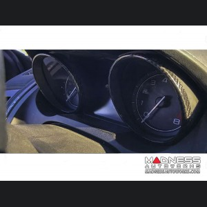 Jaguar F-Type Instrument Cluster Circles - Carbon Fiber