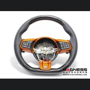 Jaguar F-Type Carbon Fiber R Steering Wheel Trim - Orange Carbon Fiber