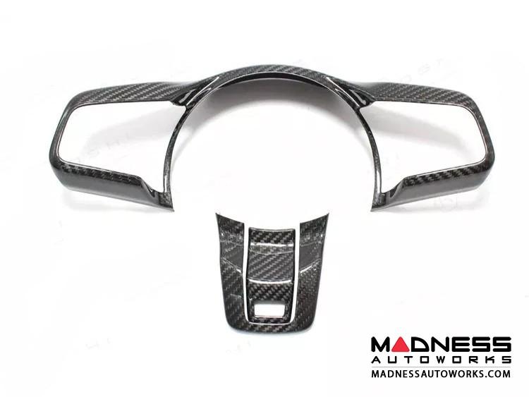 Jaguar F-Type Carbon Fiber R Steering Wheel Trim - Carbon Fiber