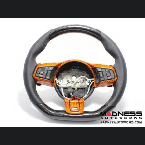 Jaguar F-Type Carbon Fiber R Steering Wheel Upper and Lower Parts - Carbon Fiber