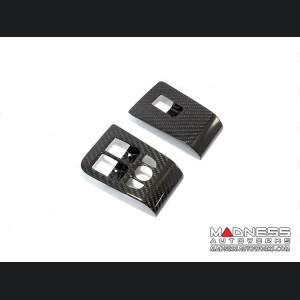 Jaguar F-Type Window Switch Control Covers - Carbon Fiber