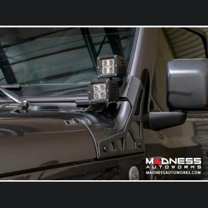 Jeep Wrangler JK A Pillar Pod Led Light Mount