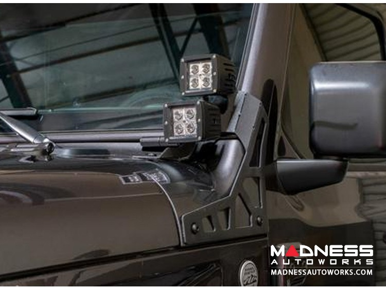 Jeep Wrangler JK A Pillar Pod Led Light Mount