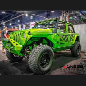 Jeep Wrangler JL Half Doors w/ Perforated Aluminum Screens - Aluminum
