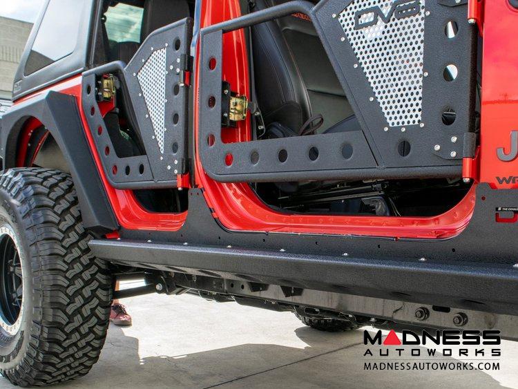 Jeep Wrangler JL Rocker Guards w/ Rock Skins - 4 Door