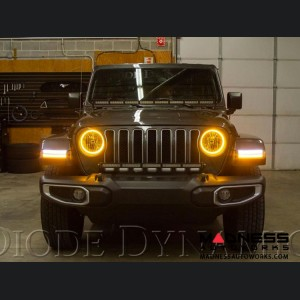 Jeep Wrangler JL HD LED Halos - Switchback Cool White & Amber - Pair