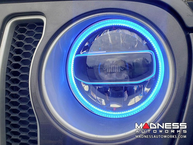 Jeep Gladiator LED Headlight Halo Kit - RGBW