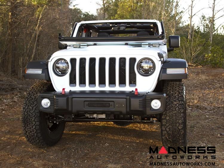 Jeep Gladiator JT Spartacus Front Bumper - Satin & Stamped Steel
