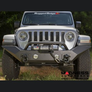 Jeep Gladiator Spartan Bumper w/ High Clearance Ends & Overrider - Front