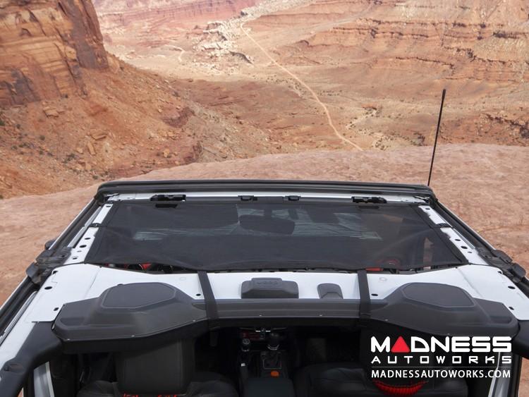 Jeep Gladiator JT Eclipse Sun Shade - Front - Black