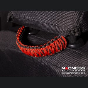 Jeep Gladiator Para Cord Seat Mount Grab Handle - Red