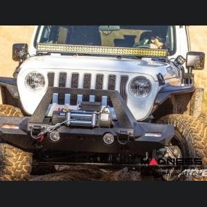 """Jeep Gladiator Windshield Lightbar w/ Brackets - Carbide Black Powder Coat - 50"""""""